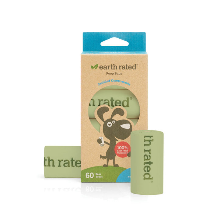 Earth Rated Certified Compostable Poop Bags