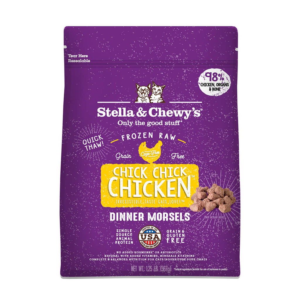 Stella and Chewy Frozen Raw Cat Food Morsels - Chick Chick Chicken