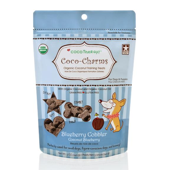 Cocotherapy Coco-Charms Organic Coconut Training Treats - Blueberry Cobbler