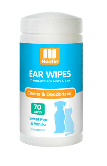 Nootie Paraben Free Ear Wipes for Dog and Cat - Sweet Pea Vanilla