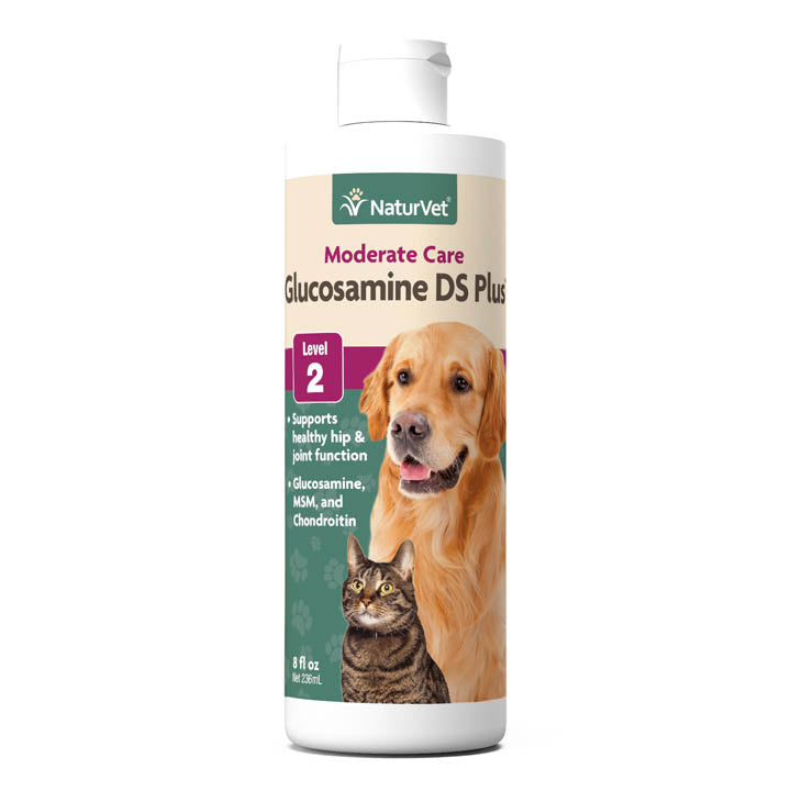 Naturvet Glucosamine DS Plus - Moderate Care Joint Support for Dogs and Cats
