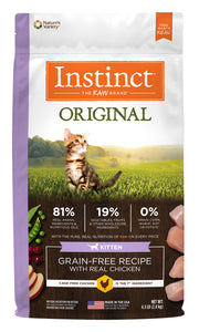 Instinct Original Grain-Free Cat Kibble (Dry) - Kitten