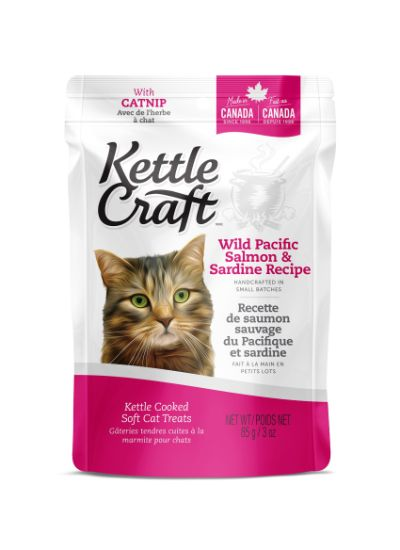 Kettle Craft Kettle Cooked Soft Cat Treats - Wild Pacific Salmon & Sardine