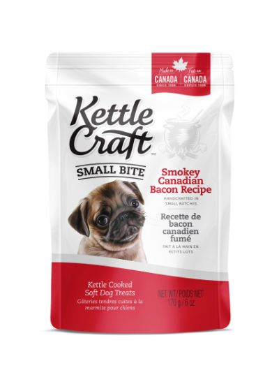 Kettle Craft Kettle Cooked Soft Dog Treats - Small Bites Smokey Canadian Bacon