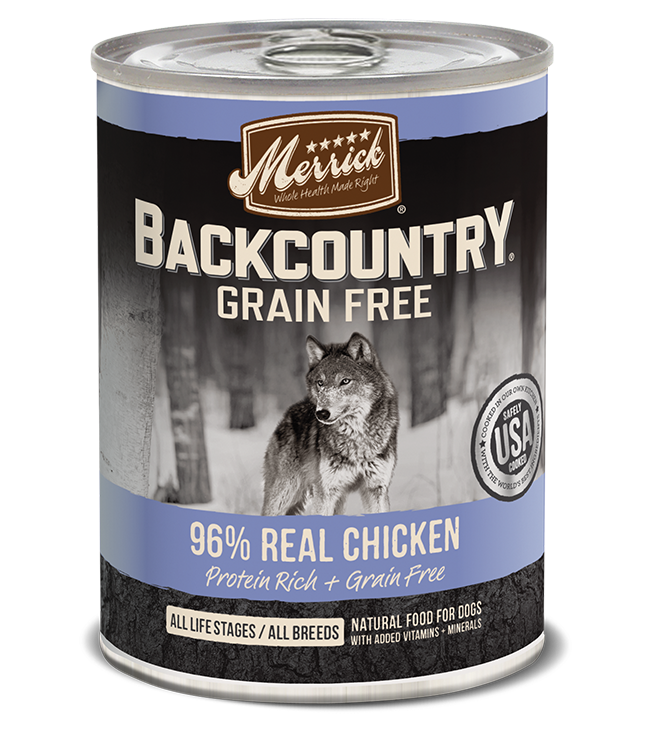 Merrick Backcountry Grain Free Dog Food (Wet) - 96% Real Chicken