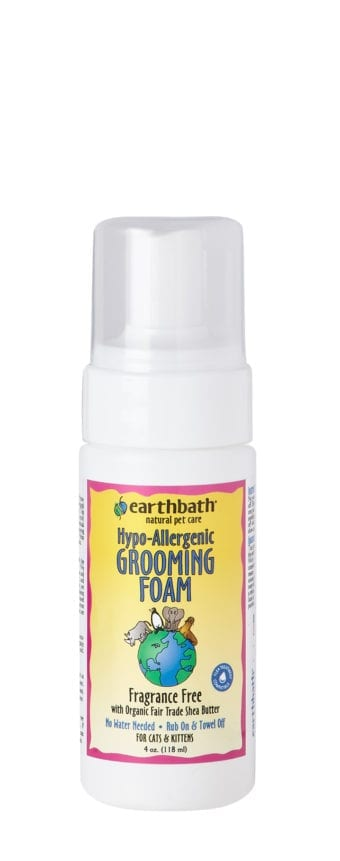 Earthbath Hypoallergenic Waterless Grooming Foam for Cats