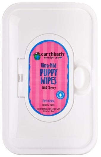 Earthbath Natural Grooming Wipes for Puppies - Cherry