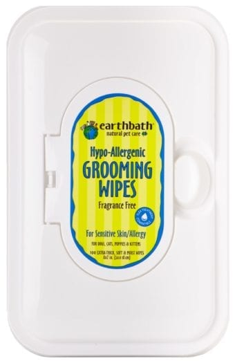 Earthbath Natural Grooming Wipes - Hypoallergenic Fragrance Free