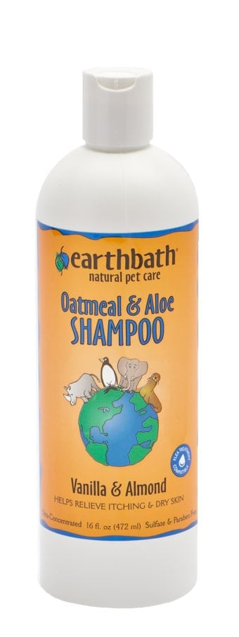 Earthbath Natural Oatmeal & Aloe Shampoo - Vanilla Almond or Fragrance Free