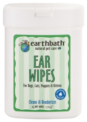 Earthbath Natural Ear Wipes for Cats and Dogs