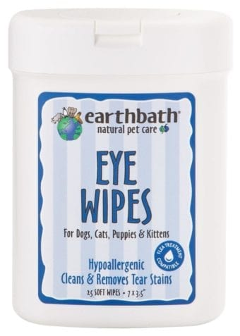 Earthbath Natural Eye Wipes for Cats and Dogs