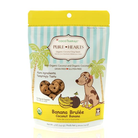 Cocotherapy Pure Hearts Organic Coconut Cookies - Banana Brulee