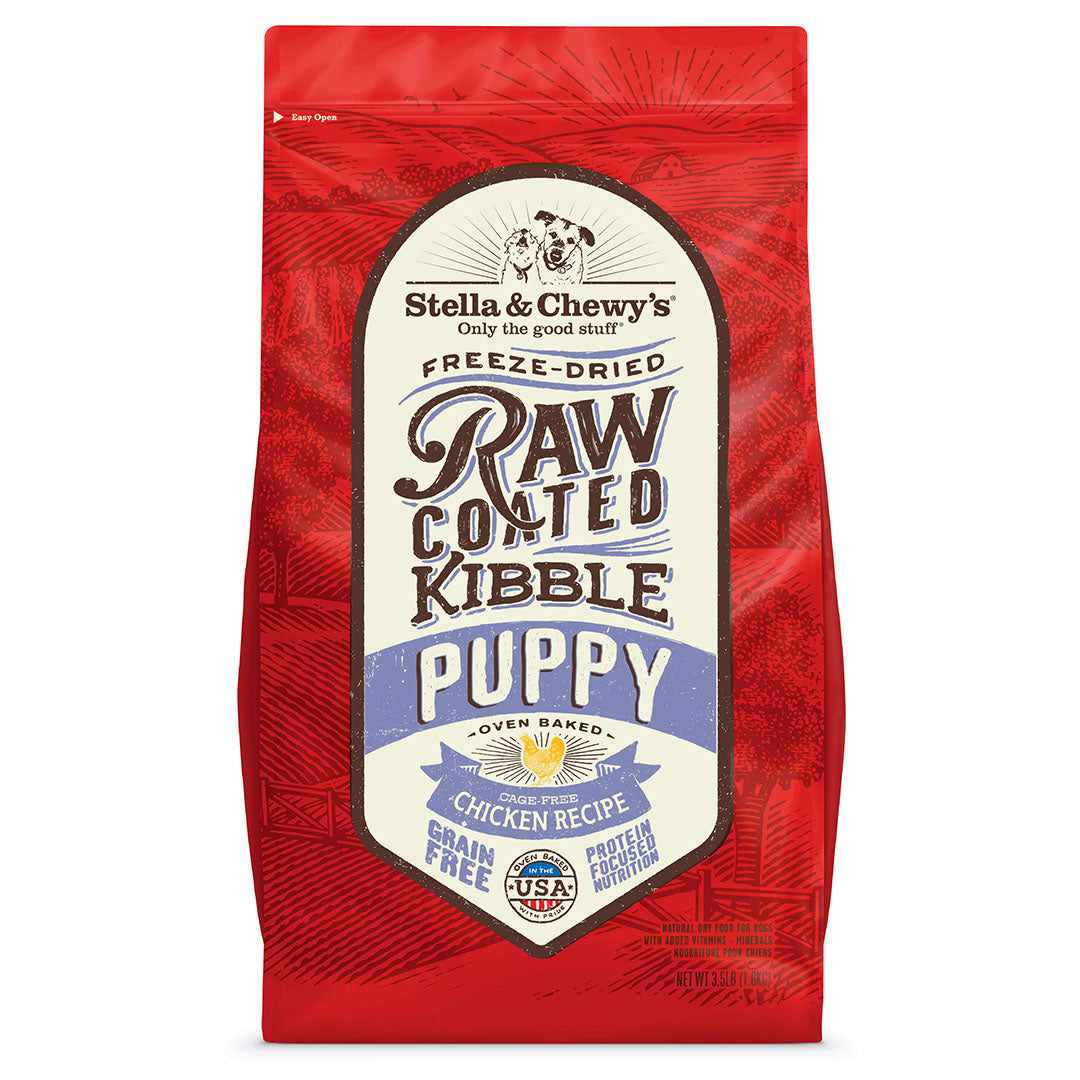 Stella and Chewy's Oven Baked Raw Coated Kibble for Dogs - Cage Free Chicken for Puppies