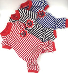 Cotton Jersey Striped Sailor Pajamas