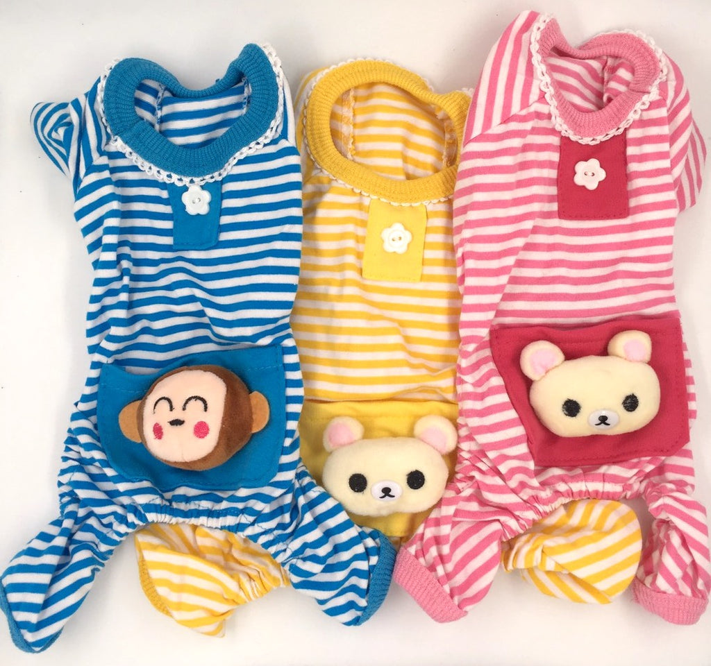 'Bear Bum' Striped Pajama