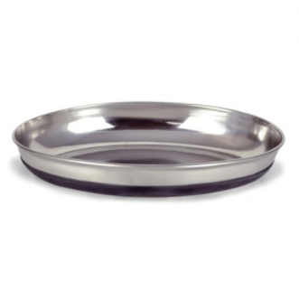 OurPets Stainless Steel Oval Cat Dish