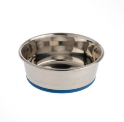 OurPets Stainless Steel Rubber-Bonded Bowl
