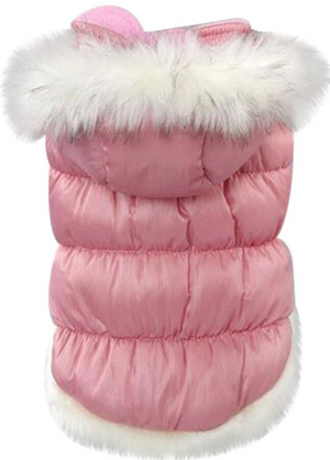 Powderpuff Parka with Removable Hood