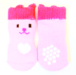 Pink Socks with Heart and Face