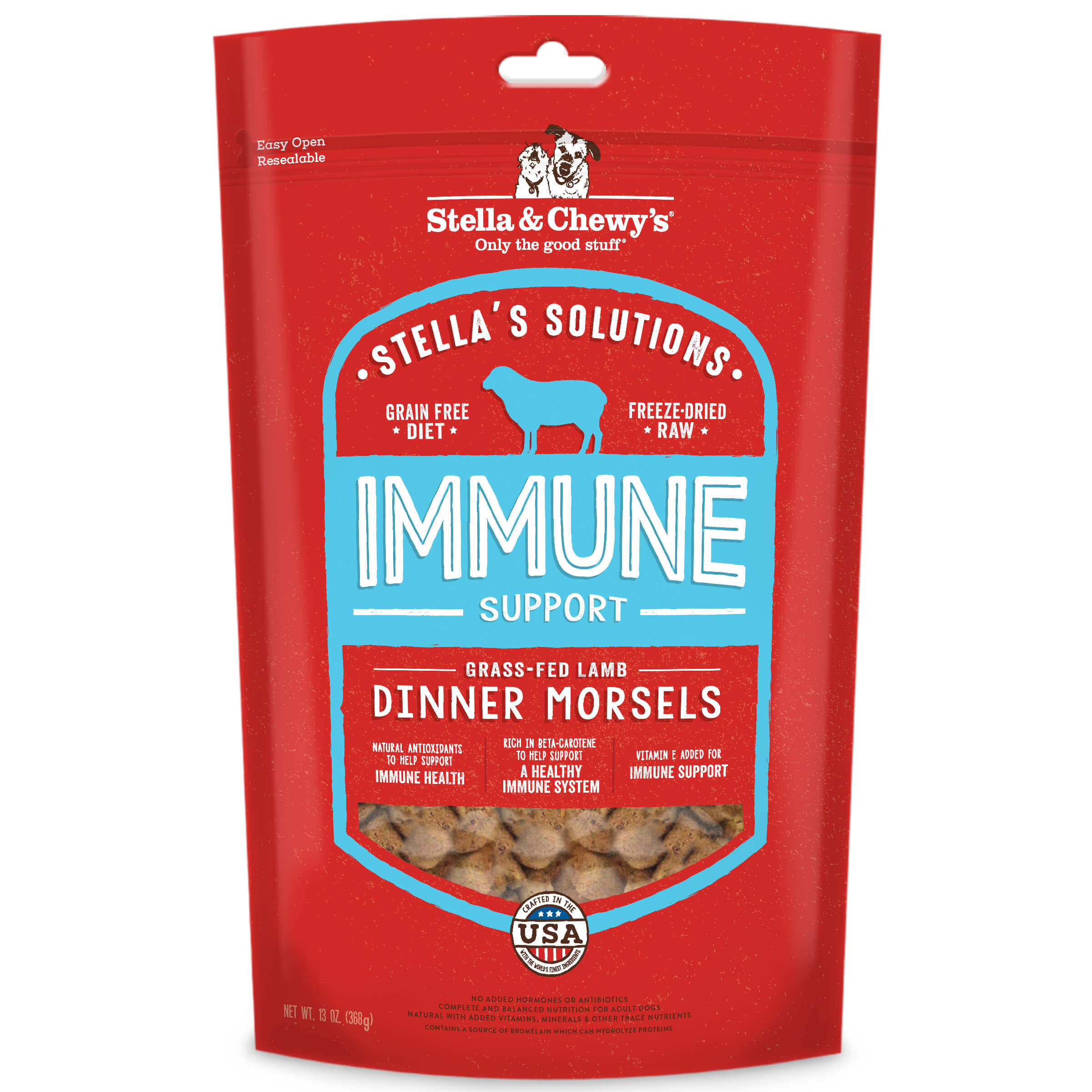 Stella and Chewy's Solutions Freeze Dried Raw Morsels for Dogs - Immune Boost Lamb