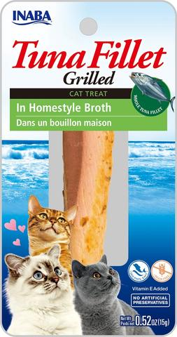 Inaba Grilled Fillet Cat Treat - Tuna in Homestyle Broth