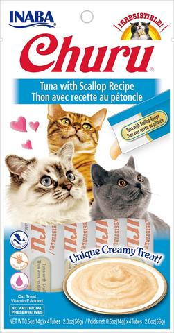 Inaba Churu Puree Cat Treats - Tuna with Scallop Recipe