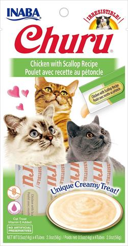 Inaba Churu Puree Cat Treats - Chicken with Scallop Recipe