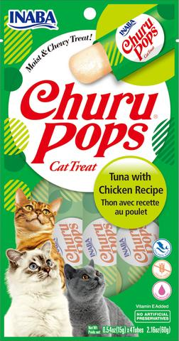 Inaba Churu Pops Moist and Chewy Cat Treats - Tuna with Chicken