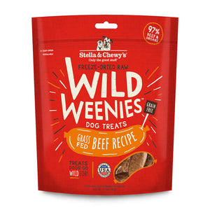 Stella and Chewy's Freeze Dried Raw Wild Weenies - Grass Fed Beef