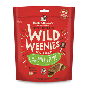 Stella and Chewy's Freeze Dried Raw Wild Weenies - Cage Free Duck