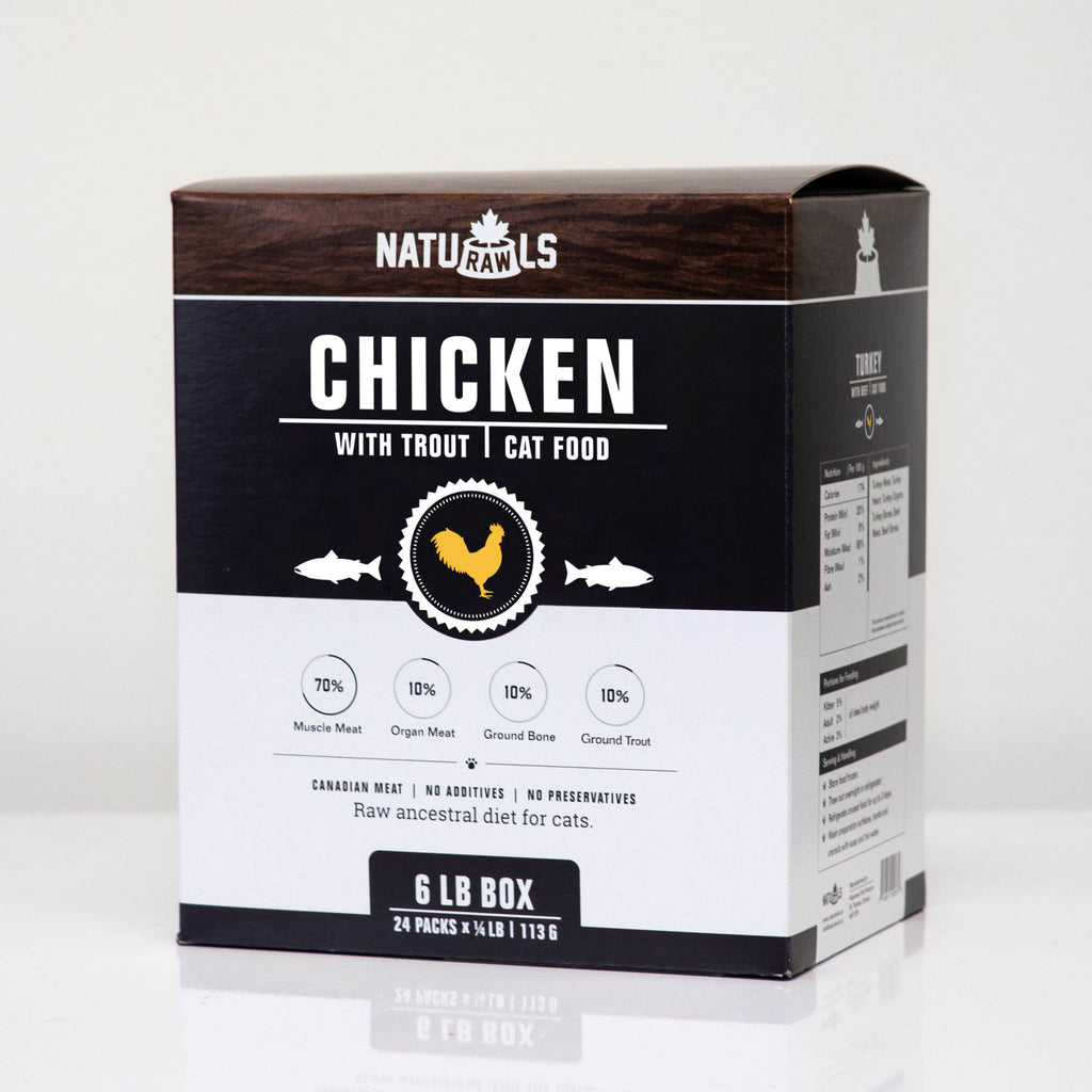 Naturawls Frozen Raw Dinners for Cat - Chicken & Trout