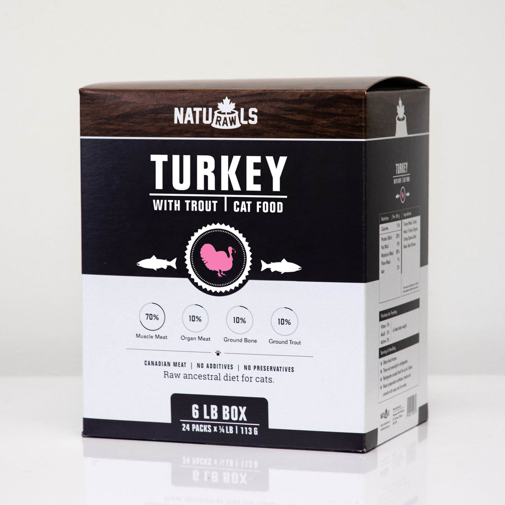 Naturawls Frozen Raw Dinners for Cat - Turkey & Trout