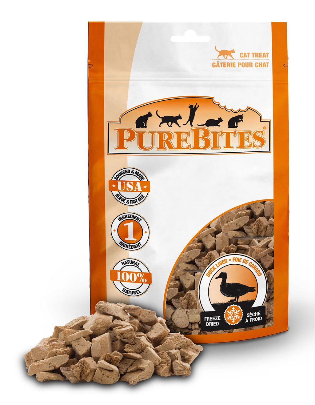 Purebites Freeze Dried Cat Treats - Duck Liver