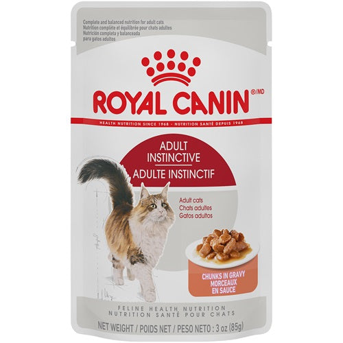 Royal Canin Cat Food (Wet) - Adult Instinctive Pouch - Chunks in Gravy