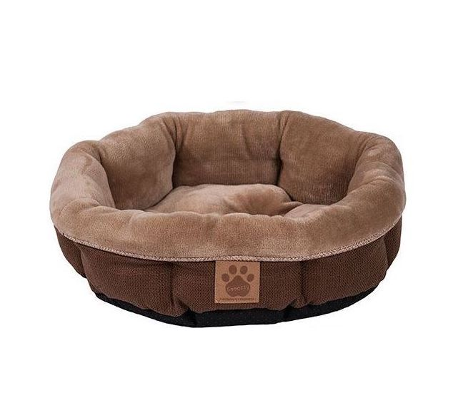 SnooZZy Small Round Shearling Bed - Perfect for Cats or Small Dogs