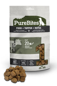 Purebites Raw Freeze Dried Dog Food or Mixer - Beef
