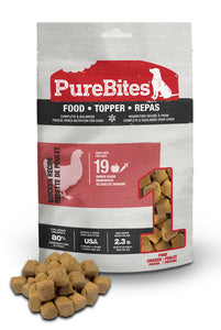 Purebites Raw Freeze Dried Dog Food or Mixer - Chicken