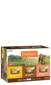 Instinct Original Canned Cat Food - VARIETY PACK - Chicken, Salmon, Duck