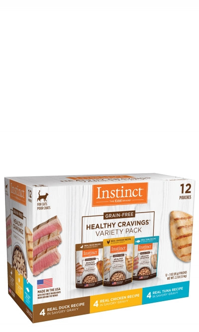 Instinct Healthy Cravings Cat Food Pouches - VARIETY PACK - Duck, Chicken, Tuna