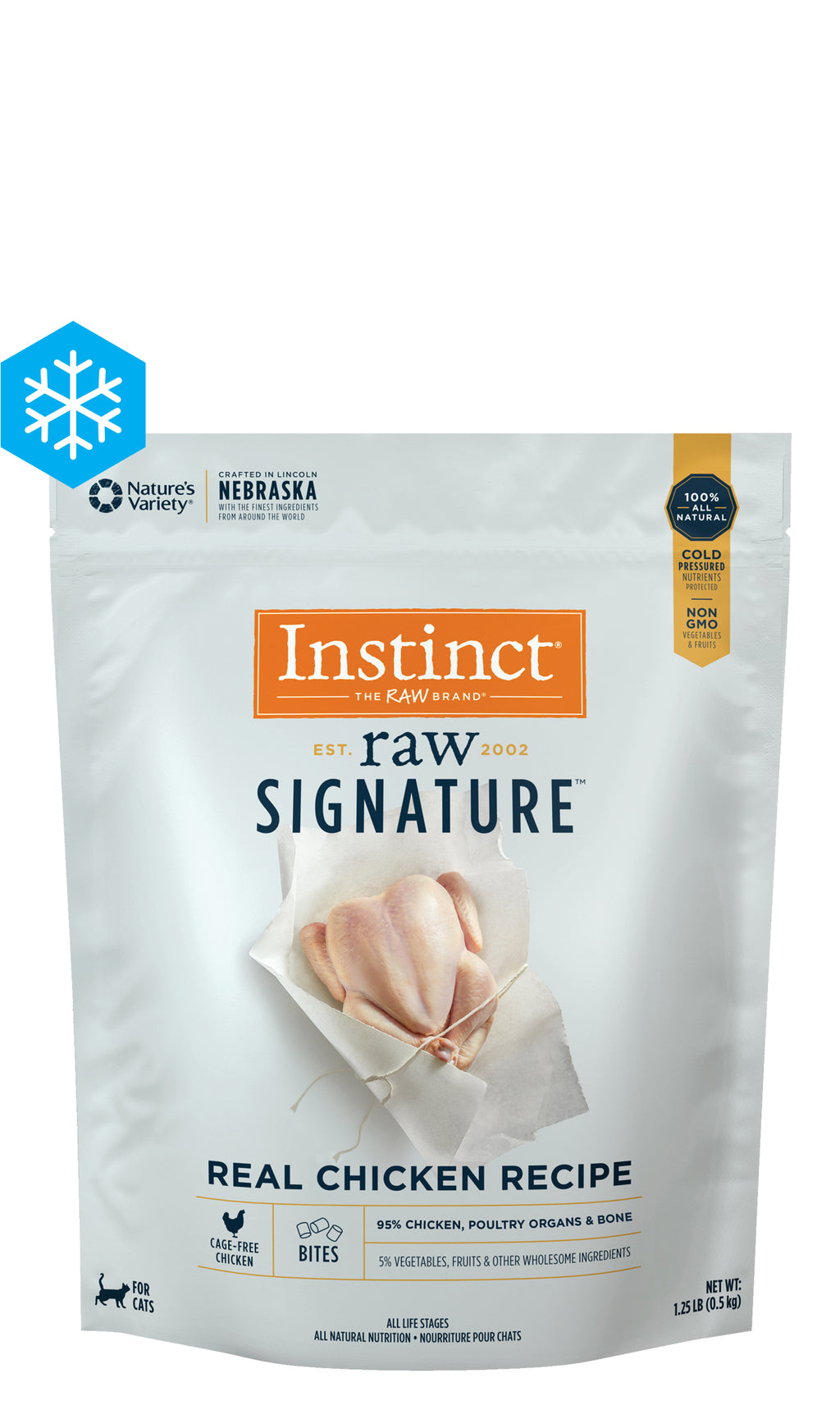 Instinct Signature Raw for Cats - Frozen Raw - Real Chicken