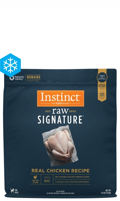 Instinct Signature Raw Bites - Frozen Raw - Real Chicken