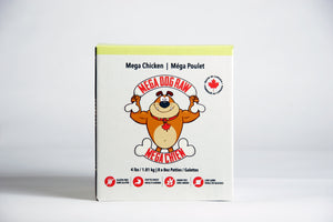 Mega Dog Chicken Raw Food - 4lbs (8x0.5lb Patties)