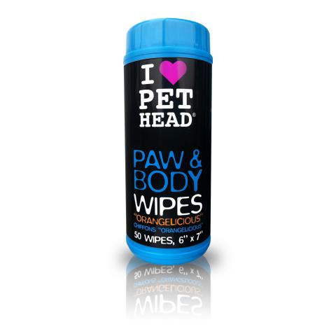 PET HEAD Paw & Body Wipes - Orangelicious
