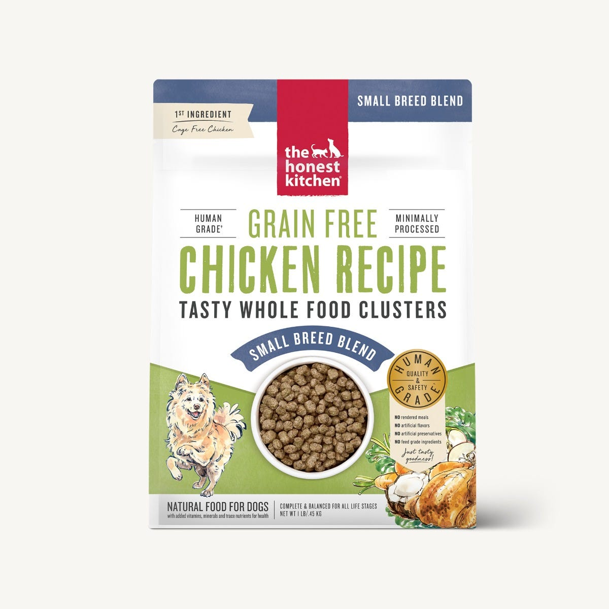Honest Kitchen Whole Food Clusters Dog Food (Dry) - Chicken for Small Breed
