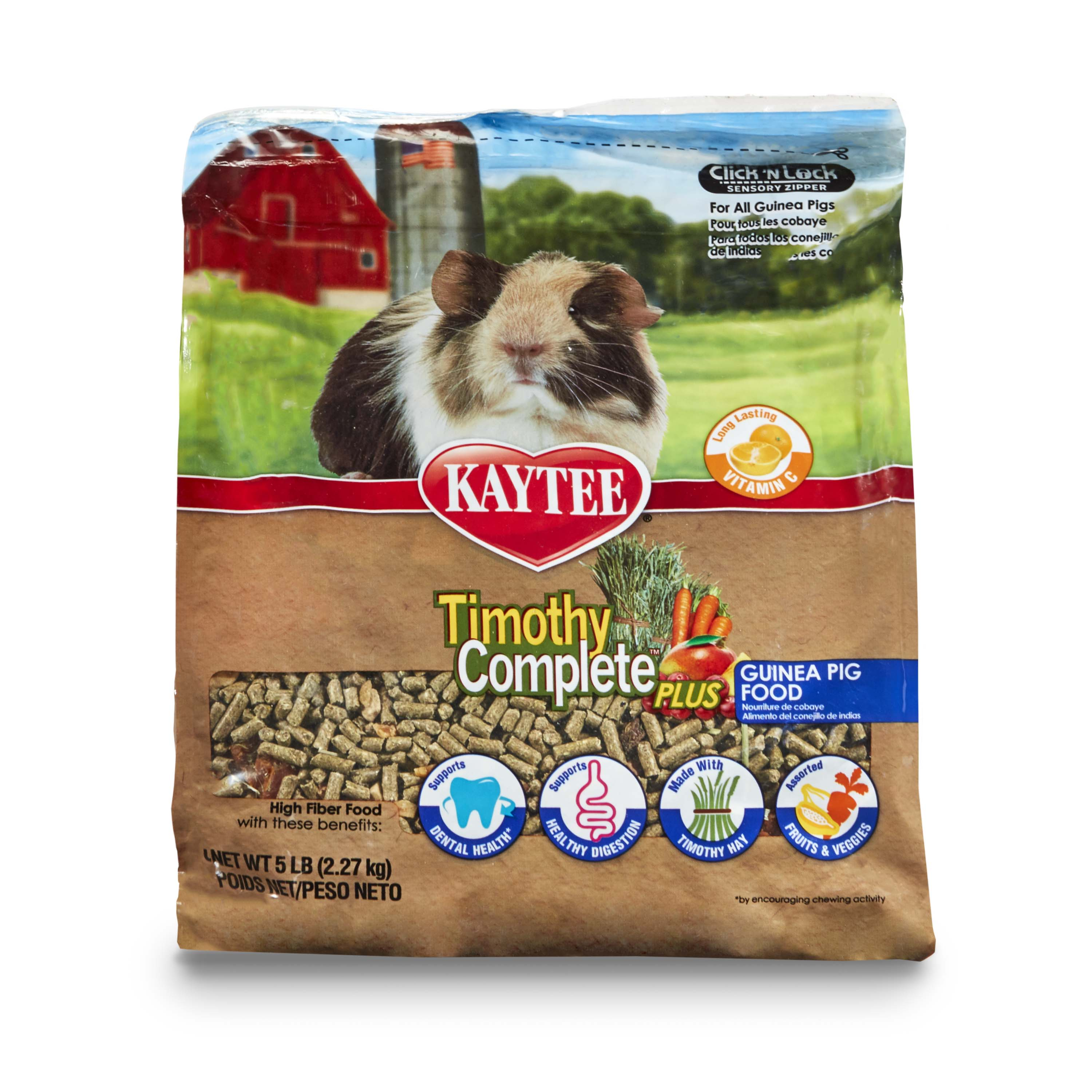 Kaytee Timothy Complete Guinea Pig Food - Plus Fruits & Vegetables