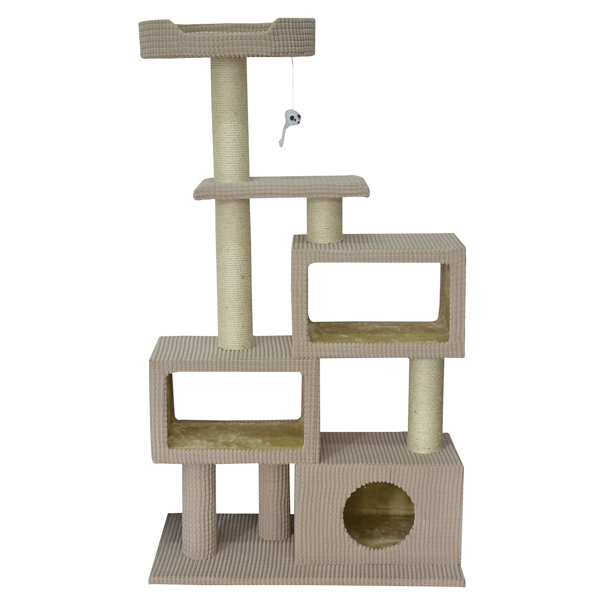 "51"" Cat Condo Tower in Beige"