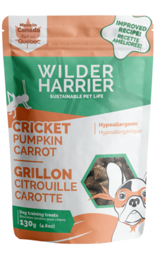 Wilder Harrier Hypoallergenic Cricket Training Bites - Pumpkin Carrot