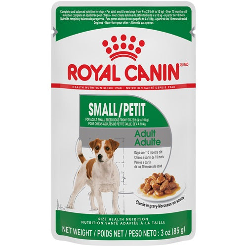 Royal Canin Dog Food (Wet) - Small Breed Adult Chunks in Gravy