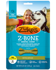 Zukes Z-Bones Dental Chews - Clean Apple Crisp