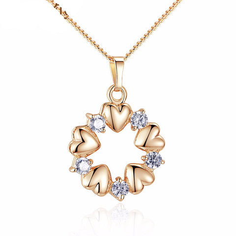 Gold Plated Heart Necklaces & Pendants - ResedaGear